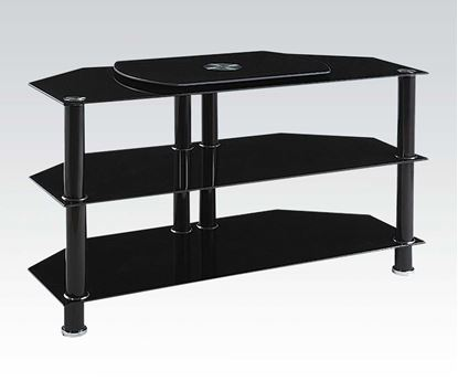 Picture of Marabel Black Tempered Glass TV Stand