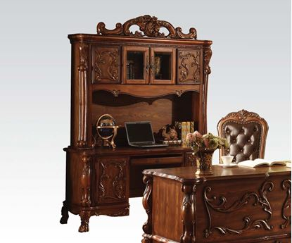 Picture of Traditional Decorative Hardware Cherry Solid Wood Bookcase