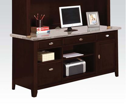 Picture of Britney Faux Marble Office Desk  with 3 File Drawers