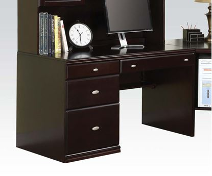 Picture of Cape Espresso Office Desk w/ 3 Drawers