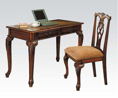 Picture of Aristocrat Cherry Wood Writing Desk Set with Side Chair