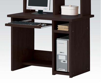 Picture of Espresso Finish Wood Computer Desk