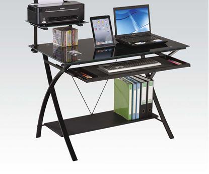 Picture of Erma Black Finish Computer Desk