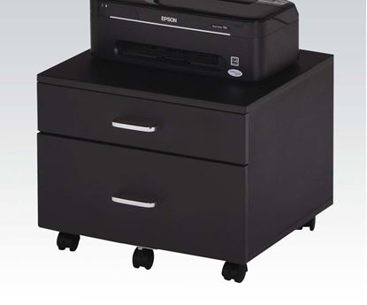 Picture of Ellis Black Finish File Cabinet w/2 Drawers