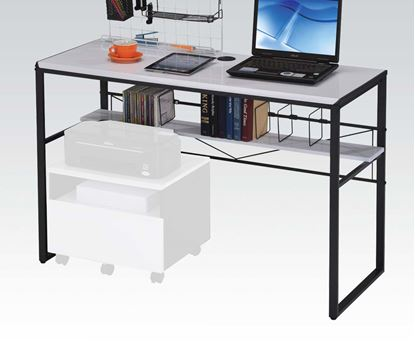 Picture of Ellis Black Metal Frame & White Top Computer Desk