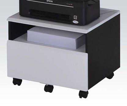 Picture of Furniture  Ellis Black & White Finish File Cabinet