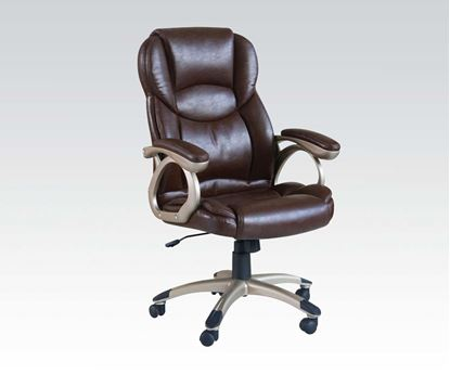Picture of Brown Bycast PU Pneumatic Lift Office Chair