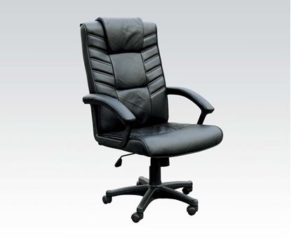 Picture of Chesterfield Black Pneumatic Lift Office Chair