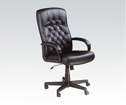 Picture of Charles Black Genuine Leather Executive Office Chair