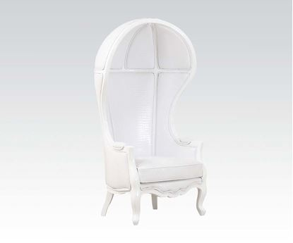 Picture of White Pu Hooded Accent Chair