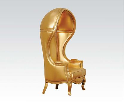 Picture of Gold Pu Hooded Accent Chair