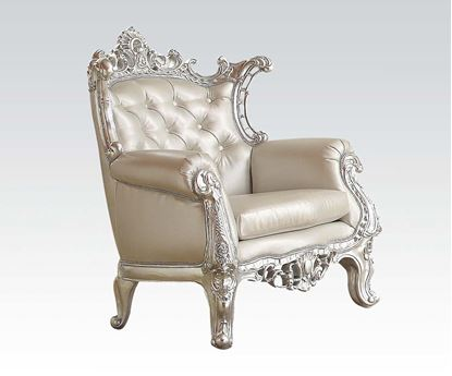 Picture of Silver Frame Accent Chair (W/Silver Pu)