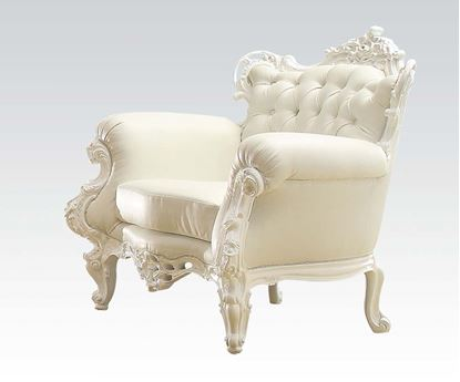 Picture of White Frame/White Pu Accent Chair
