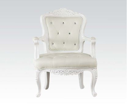Picture of White Frame Accent Chair (White Pu)