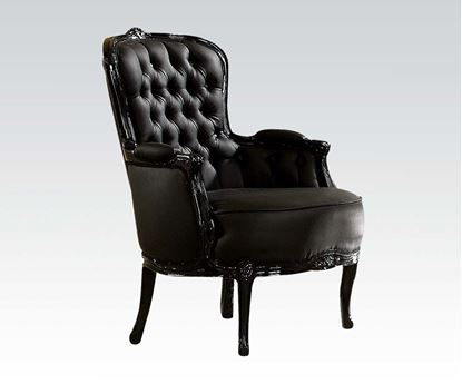 Picture of Black Frame/Black Pu Accent Chair