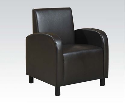 Picture of Black Pu Accent Chair  W/P1