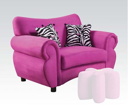 Picture of Lucy Pink Microfiber Youth Chair