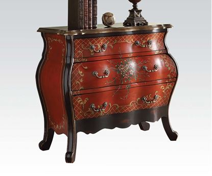 Picture of Traditional  Iden Cherry Finish Bombay Chest
