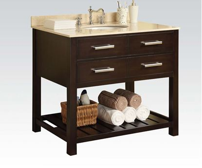 Picture of White Marble Top Cherry Sink  W/P2