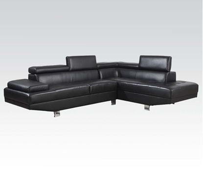 Picture of Black Pu Sectional W/P2