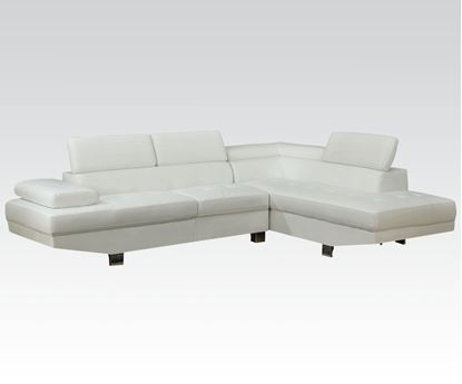 Picture of White Pu Sectional W/P2