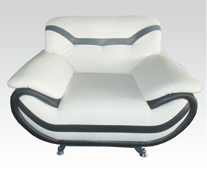 Picture of Modern Rozene White Black Bonded Leather Chair