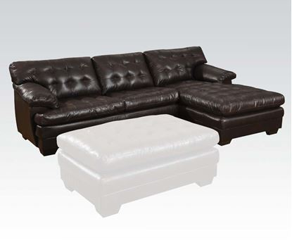 Picture of Nigel Dark Brown Bonded Leather Match Sectional Sofa