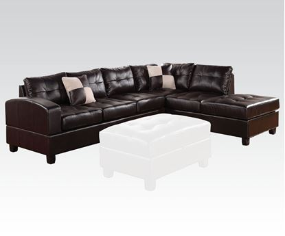 Picture of Kiva Espresso Bonded Leather Match Right Facing Sectional Sofa