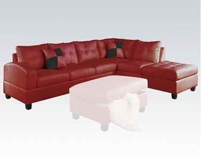 Picture of Kiva Red Bonded Leather RF Sectional Sofa with 2 Pillows