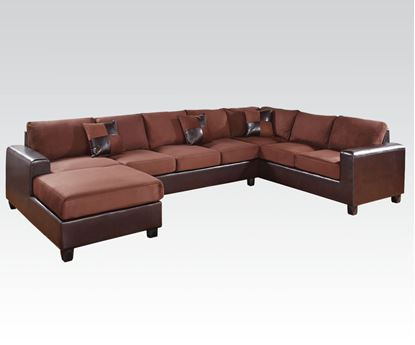 Picture of Dannis Reversible Sectional Sofa in Chocolate