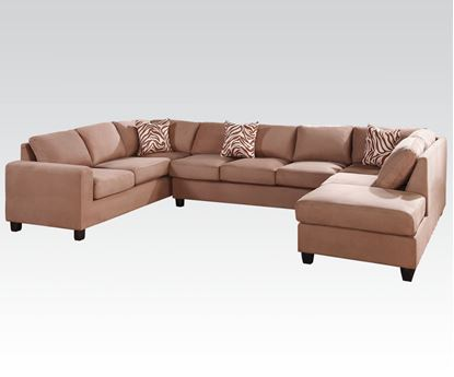 Picture of Dannis Reversible Sectional Sofa Saddle Microfiber