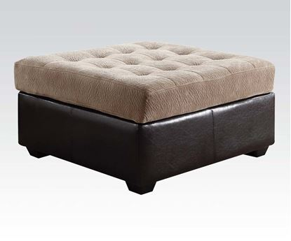Picture of Layce Camel Champion Fabric Ottoman