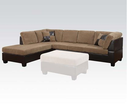 Picture of Connell Contemporary Light Brown Sectional Sofa w/Pillows