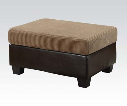 Picture of Connell Contemporary Light Brown Ottoman  55945