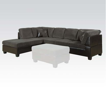 Picture of Connell Contemporary Dark Gray Sectional Sofa w/Pillows