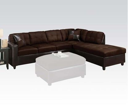 Picture of Milano Chocolate Microfiber Reversible Sectional Sofa
