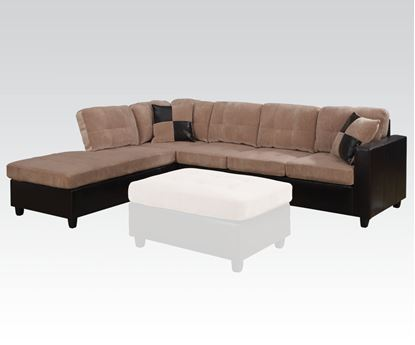 Picture of Modern Camel Champion Dark Brown PU Reversible Sectional Sofa