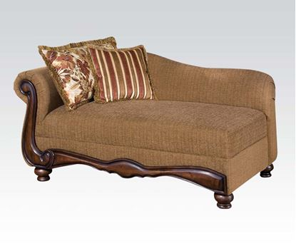 Picture of Traditional Fabric Floral Brown Finished Chair