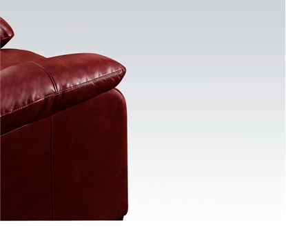 Picture of Contemporary Jeremy Padded Bonded Leather Red Chair