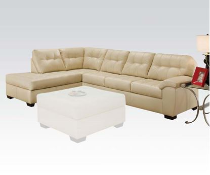 Picture of Natural Bonded Leather Left Facing Sectional