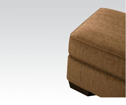 Picture of Modern Lola Walnut Fabric Ottoman