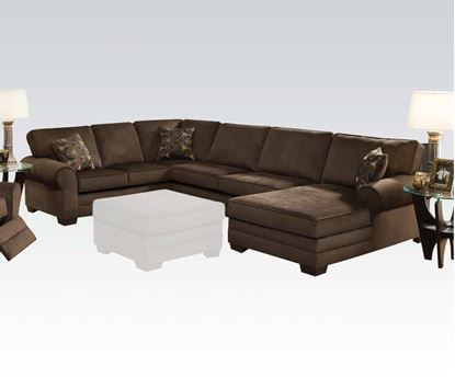 Picture of Tenner Sectional Sofa in Deluxe Beluga Fabric