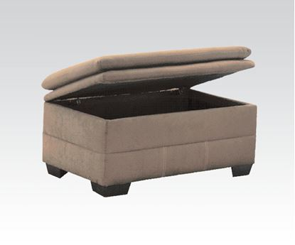 Picture of Lucille Contemporary Sage Microfiber Fabric Ottoman