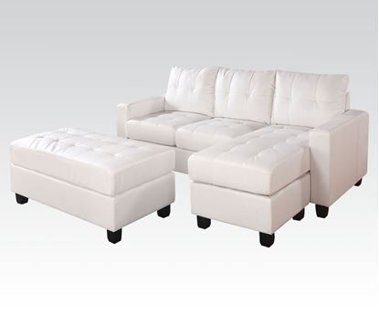 Picture of Lyssa Sectional Sofa & Ottoman Bonded Leather Match