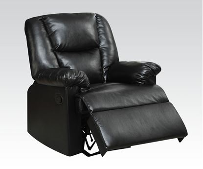 Picture of Black Pu Recliner