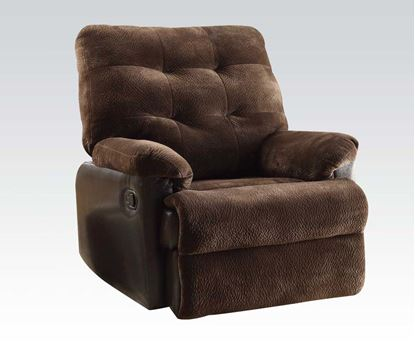 Picture of Layce Morgan Fabric Glider Recliner in Chocolate Finish