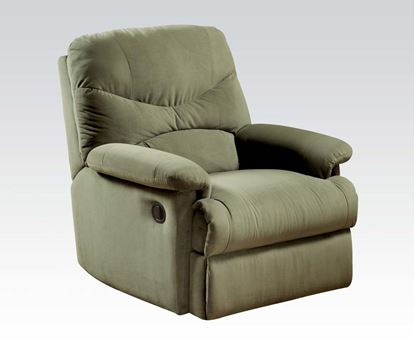 Picture of Contemporary Arcadia Microfiber Sage Glider Recliner