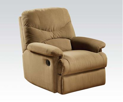 Picture of Contemporary Arcadia Microfiber Light Brown Glider Recliner