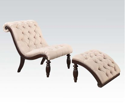 Picture of 2Pc Pk Fabric Chair W/Ottoman   W/P2