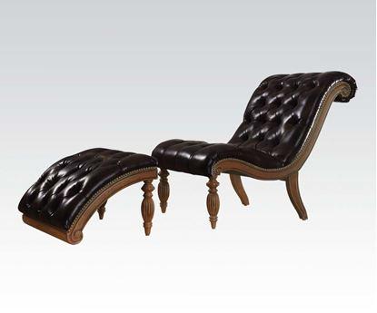 Picture of 2Pc Pk Bl Chair W/Ottoman  W/P2